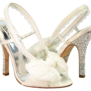 "Badgley Mischka ""White Lace Dream"" Bridal Shoes"